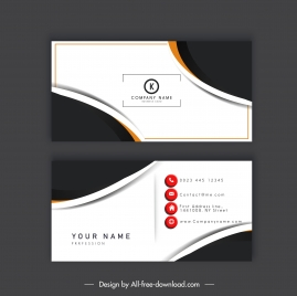 business card template elegant modern abstract contrast decor