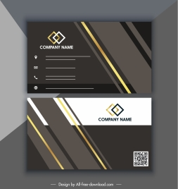 business card template elegant modern black golden decor