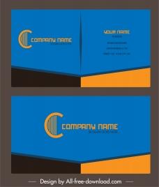 business card template elegant modern colored plain decor