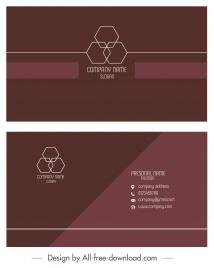 business card template elegant plain brown geometric decor