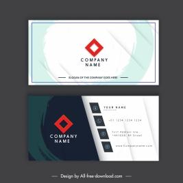 business card template flat grunge decor contrast design