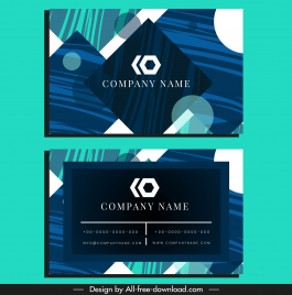 business card template flat modern abstract geometric decor
