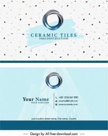 business card template modern bright 3d circle logotype