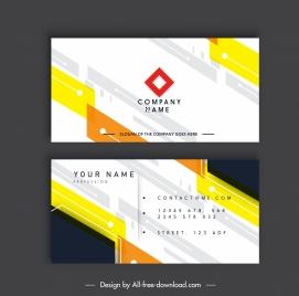 business card template modern bright abstract flat decor