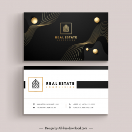 business card template modern contrast dynamic round curves