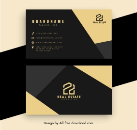 business card template modern contrast geometric design