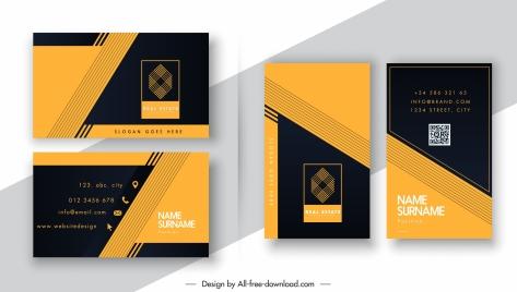 business card template modern elegant contrast cross decor