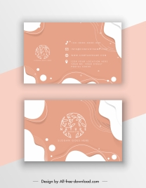 business card template nature theme dynamic abstract decor