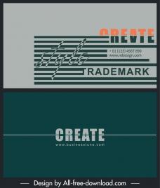 business card template simple flat plain stripes decor