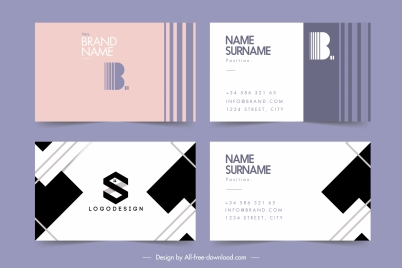 business card template simple text plain decor