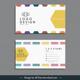 business card template technology geometric decor