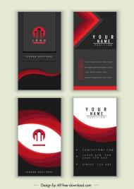 business card templates dark red black elegant design