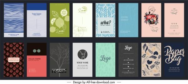 business card templates elegant classical decor