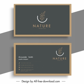business card templates elegant nature element decor