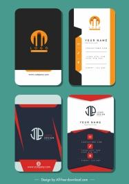 business card templates elegant vertical design