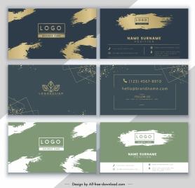 business card templates grunge elegance themes decor