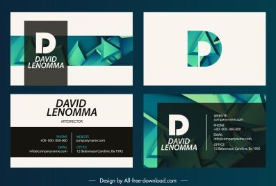 business card templates modern 3d shapes decor