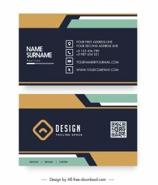 business card templates modern contrast technology decor