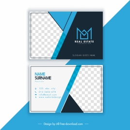business card templates modern elegant checkered decor