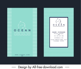 business card templates ocean dolphin logotype decor