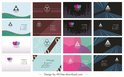 business cards collection dark bright modern abstract decor