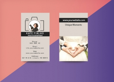 business cards for photographer