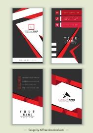 business cards templates elegant modern black red decor