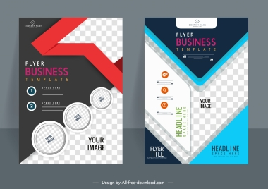 business flyer backgrounds modern colorful design checkered decor