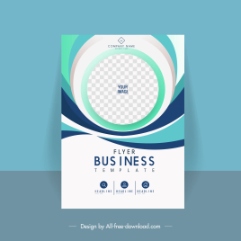 business flyer cover template elegant checkered circle curves