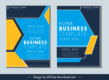 business flyer cover template modern contrast geometric decor