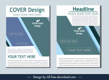 business flyer cover template modern elegant flat decor