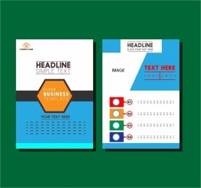 business flyer design layout modern style