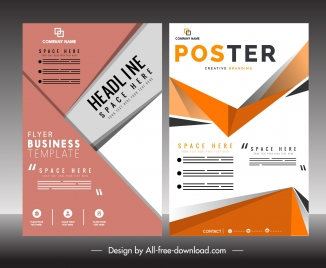 business flyer poster template abstract modern decor