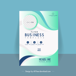 business flyer template elegant bright checkered curves decor