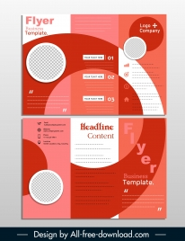 business flyer template trifold shape modern geometric decor