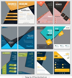 business flyer templates collection colorful modern decor