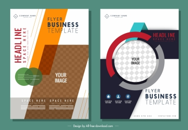 business flyer templates elegant bright colorful modern decor