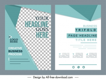 business flyer templates elegant bright modern decor