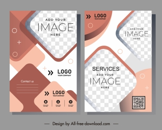 business flyer templates elegant modern checkered shapes