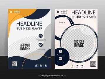 business flyer templates elegant modern design checkered decor