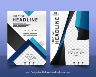 business flyer templates elegant technology checkered decor