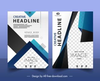 business flyer templates elegant technology checkered decor