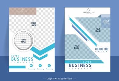 business flyer templates modern checkered decor modern design