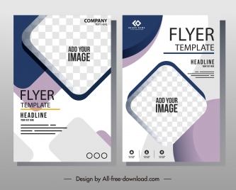 business flyer templates modern elegant bright checkered decor