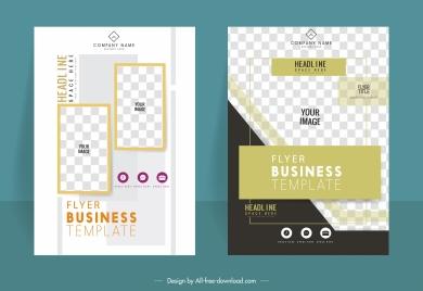business flyer templates modern elegant flat checkered decor