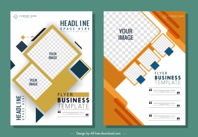 business flyer templates modern flat geometric decor