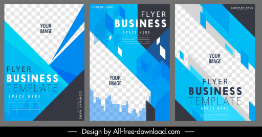 business flyers templates modern abstract checkered geometry decor