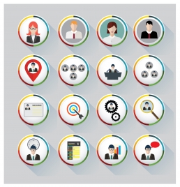 business icons vector with round design