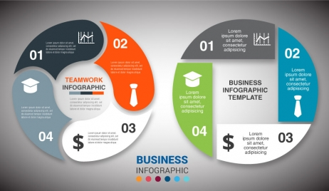 Infographic diagram design with colorful beehive background vectors business infographic diagram design with round cycles ccuart Images