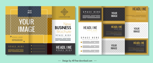 business leaflet template colorful elegant vertical design